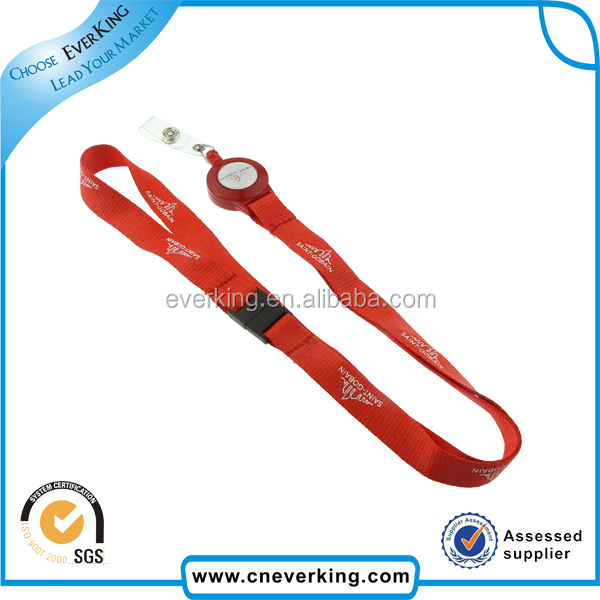 Fashion new custom retractable tool lanyard with badge reel logo printing