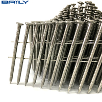 High Quality 15 Degree Wire Coil 3-Inch by .131-Inch Ring Shank, Stainless Steel Siding Nails 4000 Per box