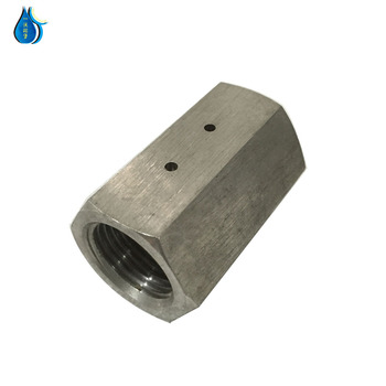 WP high quality cnc machine parts 3/8 coupling for high pressure water jet cleaning machine