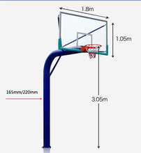 circle pipe in-ground basketball backboard stands for fitness exercise