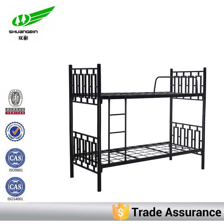 Customized double iron bed furniture
