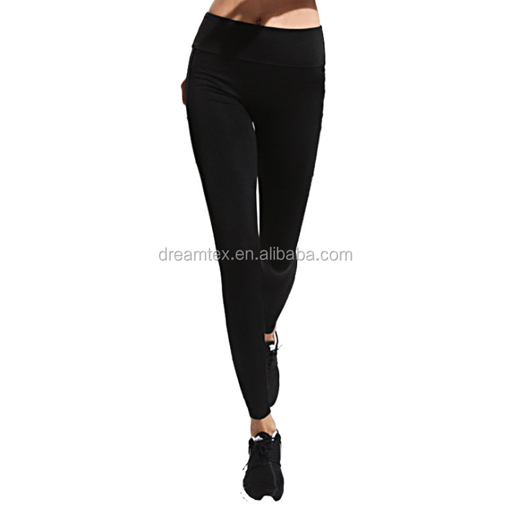 Wholesale Women Elastic Fashion Tight Fitness Gym Sports Leggings Sexy Mesh Yoga Pants