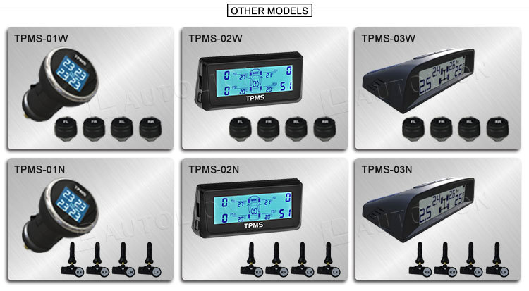2015 Top popular wireless tyre pressur monitor system TPMS