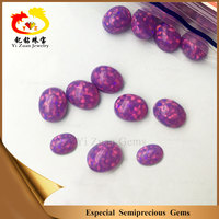 Wholesale cabochon oval shaped purple fire opal stone for pendant necklace