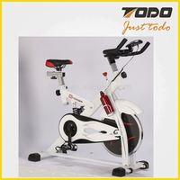 Professional Spin Bike Indoor Cycle Exercise Bike with Flywheel Hand Pulse and Big Computer