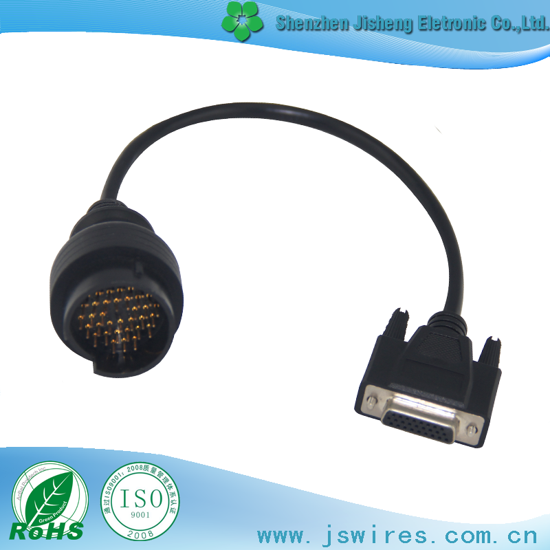 OBDII Diagnostic cable HDB 26P TO BENZ 38P Vehicle Testing Line