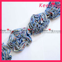 2013 Wholesale Chinese Shoes Flower Making lace Trim WTP-986