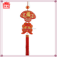 Factory wholesale popular Chinese handicraft fan shaped lucky knot art WL6112
