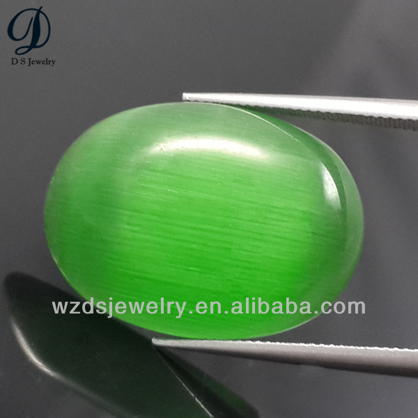 China wholesale cabocon cat eyes bead green grape bead for bead bracelet