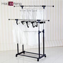 HJF GW-593 Hot Sale Steel adjustable stand folding hanging clothes rack Malaysia