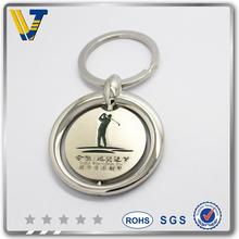 promotional wholesale 20MM silver keychain with ring