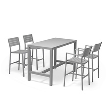 New coming customized classic outdoor high table and chair dining set