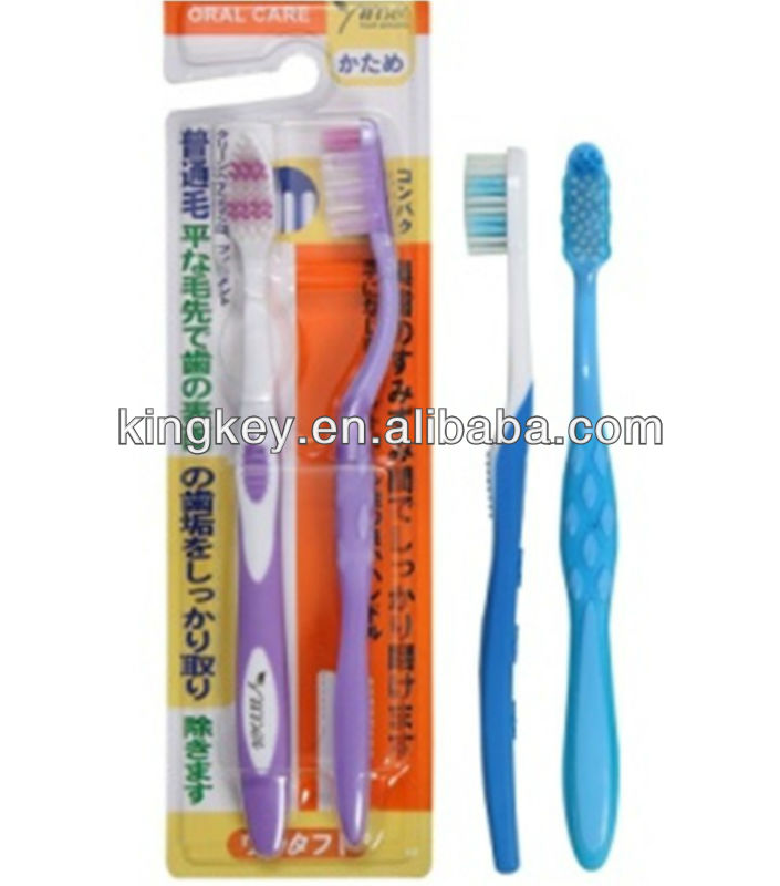 Twin Toothbrush / Twin Tooth Brush/multifunctional toothbrushes/mylon adult toothbrush/toothbrush material