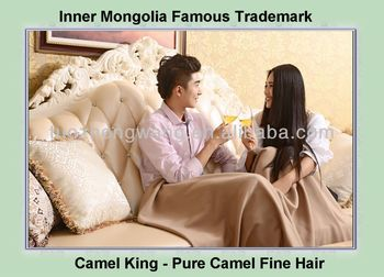 Pure camel hair sofa throw blanket
