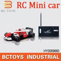 Hot Selling! 777-217 RC Mini F1 Racing car mini rc race track carwith lights HY0069660