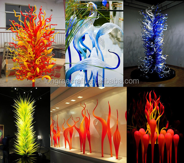 Colored Vintage Glass Garden Art
