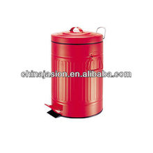20 Litre Red Glossy Metallic Pedal Bin With Inner Bucket Recycle Garbage Can Trash Waste Eco Kitchen Dustbin
