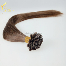 Italian Keratin NAIL U TIP Hair Extensions Indian Remy Human 1g/s 100g Straight Hair Extensions