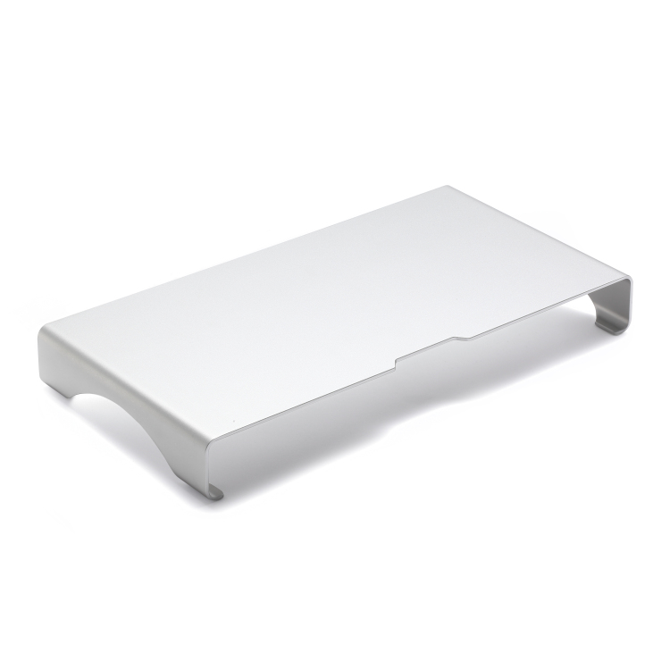 Aluminium office monitor stand and desk organizer