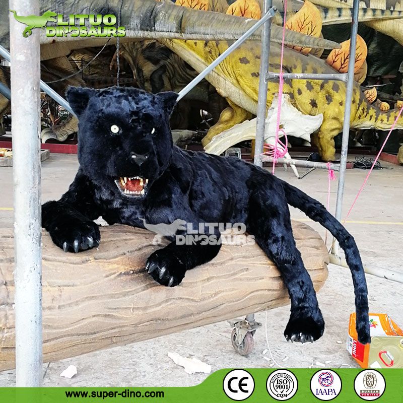 Animated Life Size Black Panther Model