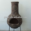 new popular clay terracotta chiminea with fashion sun face design