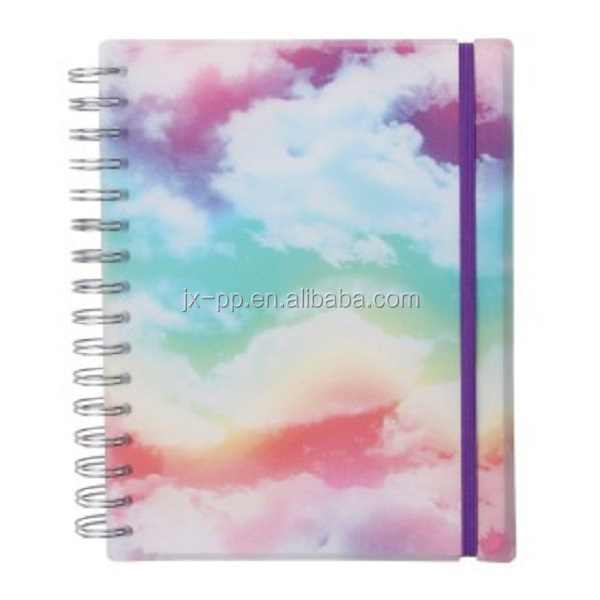School Notebook Cover Designs Hardcover Daily Planner Printing Custom Design Cheap Bulk Notebooks