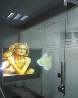 Quality 3D Holographic Projection Screen/Transparent Rear Projector Film for Shop Window Advertising