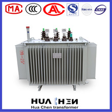 3 phase pole mounted oil immersed power electrical transformer