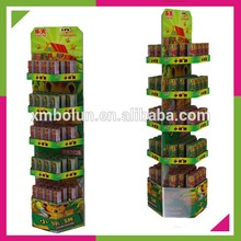 High quality retail store 5 layers cardboard supermarket shelving