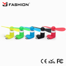 New design Y style mini usb fan for phone mini phone fan 2 in 1 mini usb fan for iPhone and Android mobile use both
