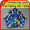 7gifts For HONDA Movistar Blue CBR600F3 97-98 CBR 600F3 CBR600 F3 20CL55 CBR 600 F3 1997 1998 Blue green CBR600RR 97 98 Fairing
