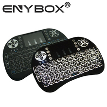 Eny I8 Mini Programmable Keyboard Backlit 2.4G Touchpad For Smart TVs Android TV Projectors