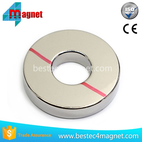 Super Strong Axially Magnetized Round Ring Ndfeb Magnets