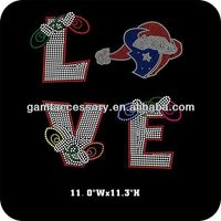 Wholesale love houston texans rhinestone transfer