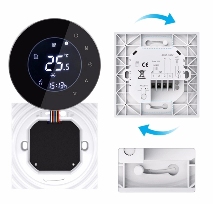 Tuya Smart Digital Programmable Wifi Smart Thermostat Temperature Controller /HVAC System Wifi Smart FCU Room Thermostat