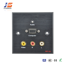 JS-101 With RCA+VGA+Audio Aluminum Wall Plate Box