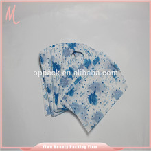 Yiwu factory blue rose pattern custom durable shopping plastic printed pe bag.jewelry promotional bag