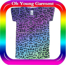 custom chilidren fashion burn out t shirt pretty girls clothes cool dry fit t shirt promotional t shirt for star printing