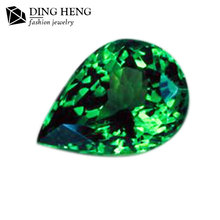 Alibaba China Wholesale AA Quality Gemstone Pear Cut Mozambique Rough Green Garnet
