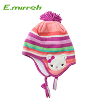 Embroidered Knitted Warm Ski Beanie Winter Hat for kids