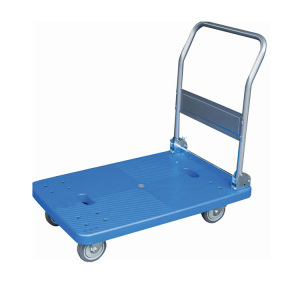 Plastic Platform Folding Truck Cart Flat Blue Bed Trolley Hand Trolley