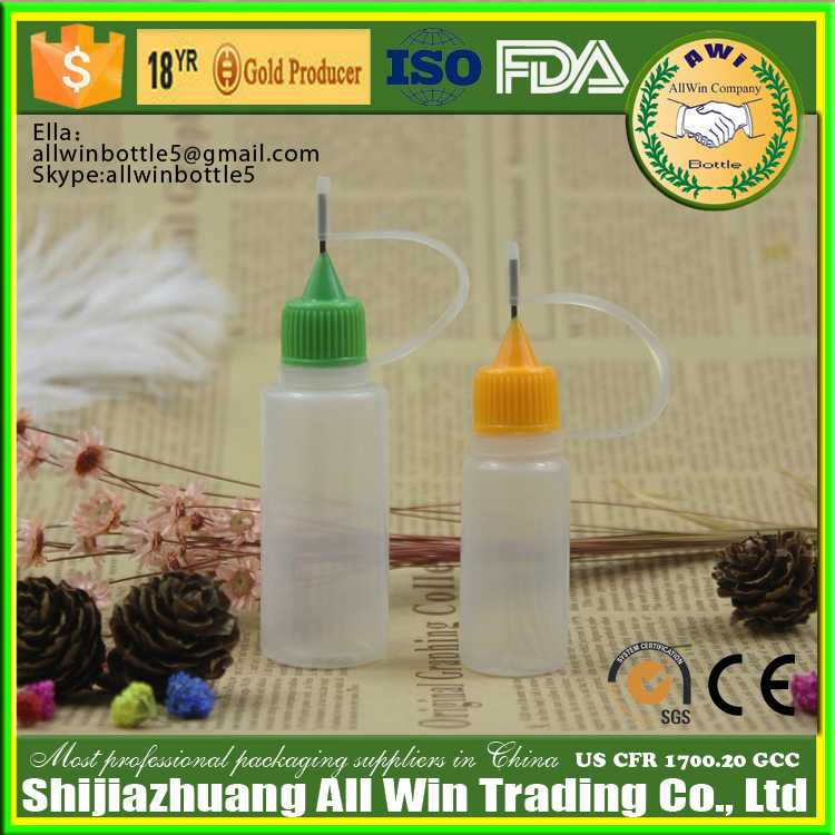 10ml squeeze needle tip PE Plastic Type plastic bottle
