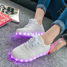 Popular famous design white led shoes,new style shoes China wholesale white led shoes