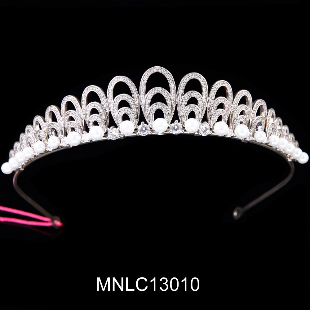 Hot selling fashion bling zircon bridal tiara bridal