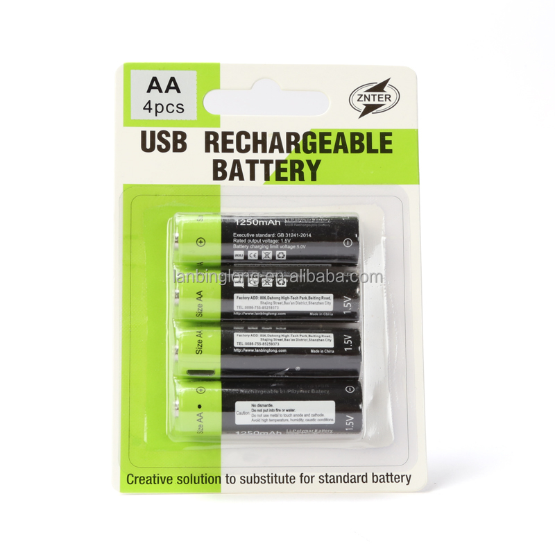 ZNTER 1.5v AA/AAA rechargeable batteries lithium polymer battery useful Power tools