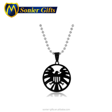 The stainless steel name tiny initial aroma pendant necklace
