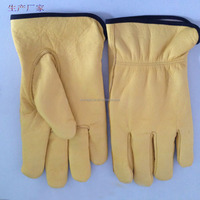 cow leather working glove with thick liner winter gloves
