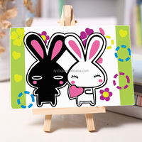 Rabbit pattern digital diy oil painting child gift oil painting by numbers