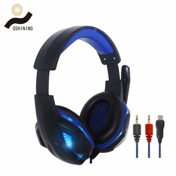 Newest Design Wired LED Light Gaming Headphone Support PC For Boys and Girls