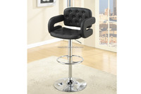 Home Dining Bar Furniture Faux Leather Swivel Adjustable Chair Stools CL - 3334